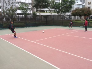 Canchas Minicipales de tenis Miaraflores - 20 year old Laykold courts